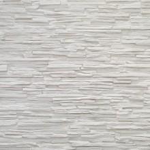 Steinoptik Wandpaneele - schmaler Bruchstein weiss