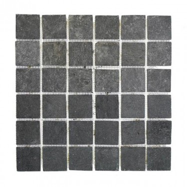 Mosaikfliesen - Schiefer Mosaik - Naturstein - schwarz-anthrazit