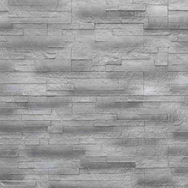Steinoptik Wandpaneele - schmaler Schiefer silber-grau