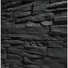 Steinoptik Wandpaneele - Bruchstein schwarz