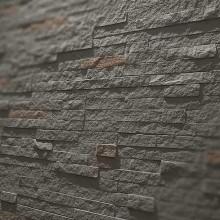 Steinoptik Wandpaneele - schmaler Schiefer anthrazit