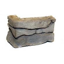 Verblender schmaler Bruchstein - grau - Ecksteine