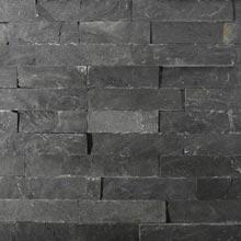 Naturstein Wandverblender Schiefer schwarz, anthrazit
